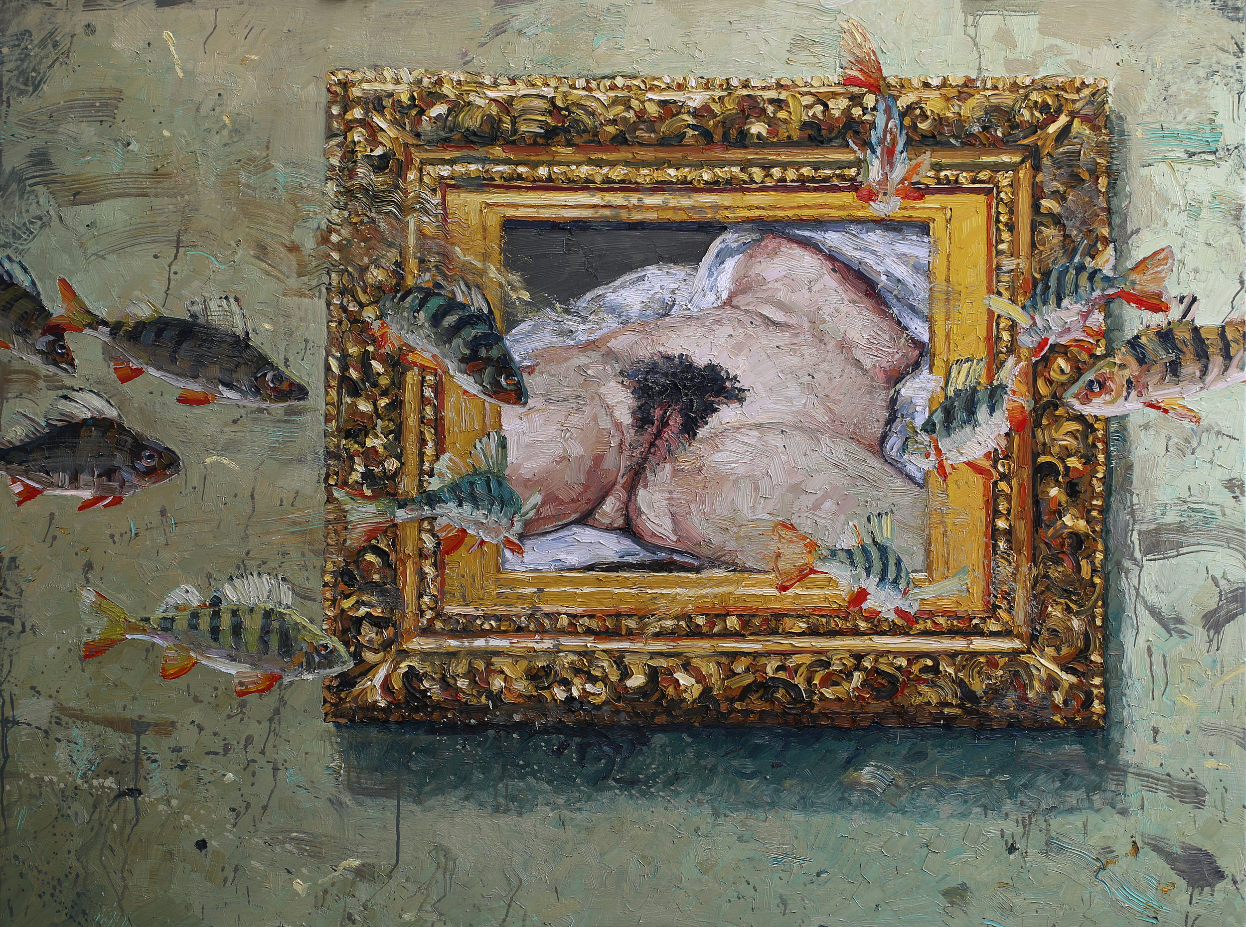 Hommage à Courbet   120x160 cm   Privat eie