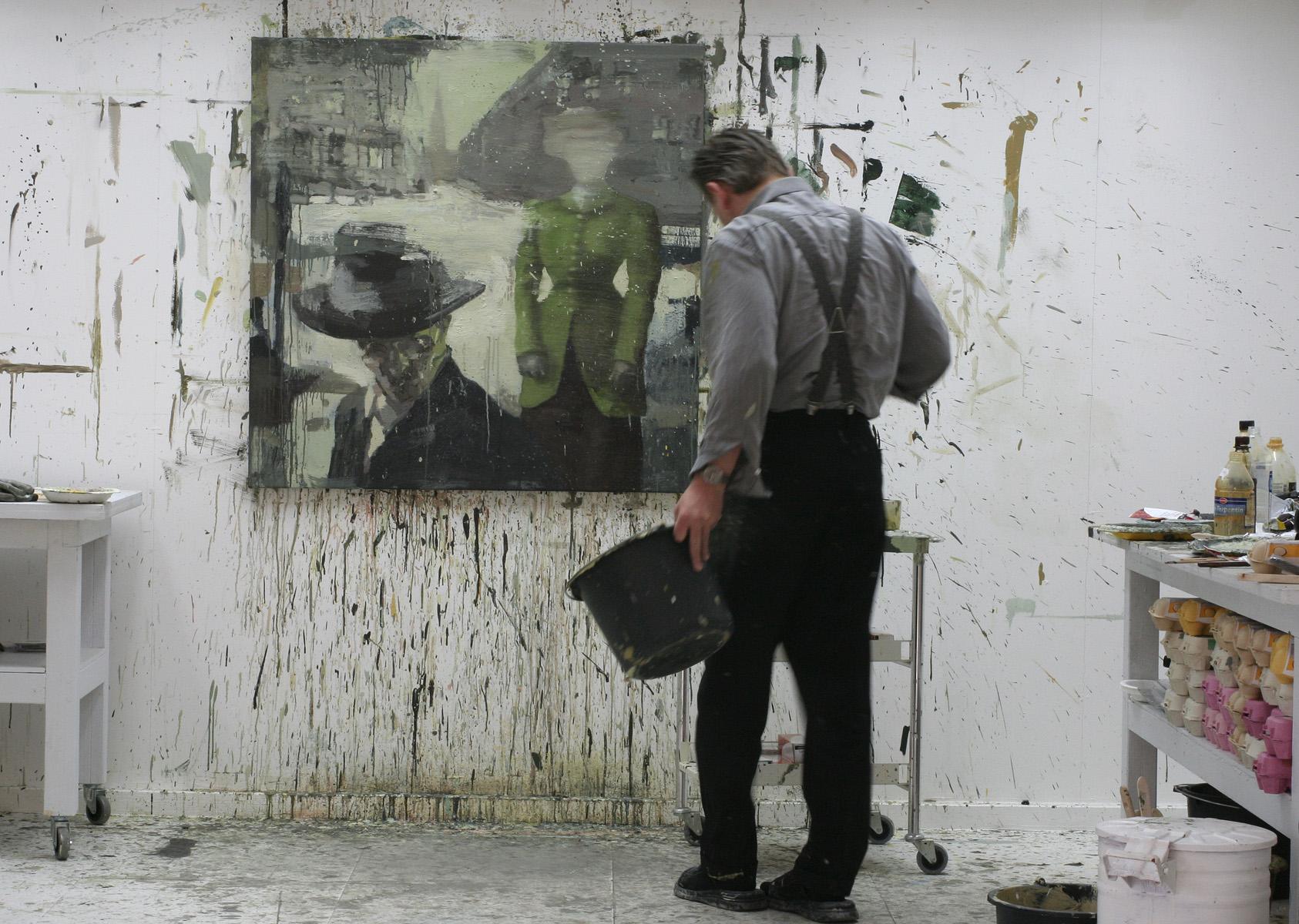 """""""Fra St Olavs plass"""", under arbeid."""