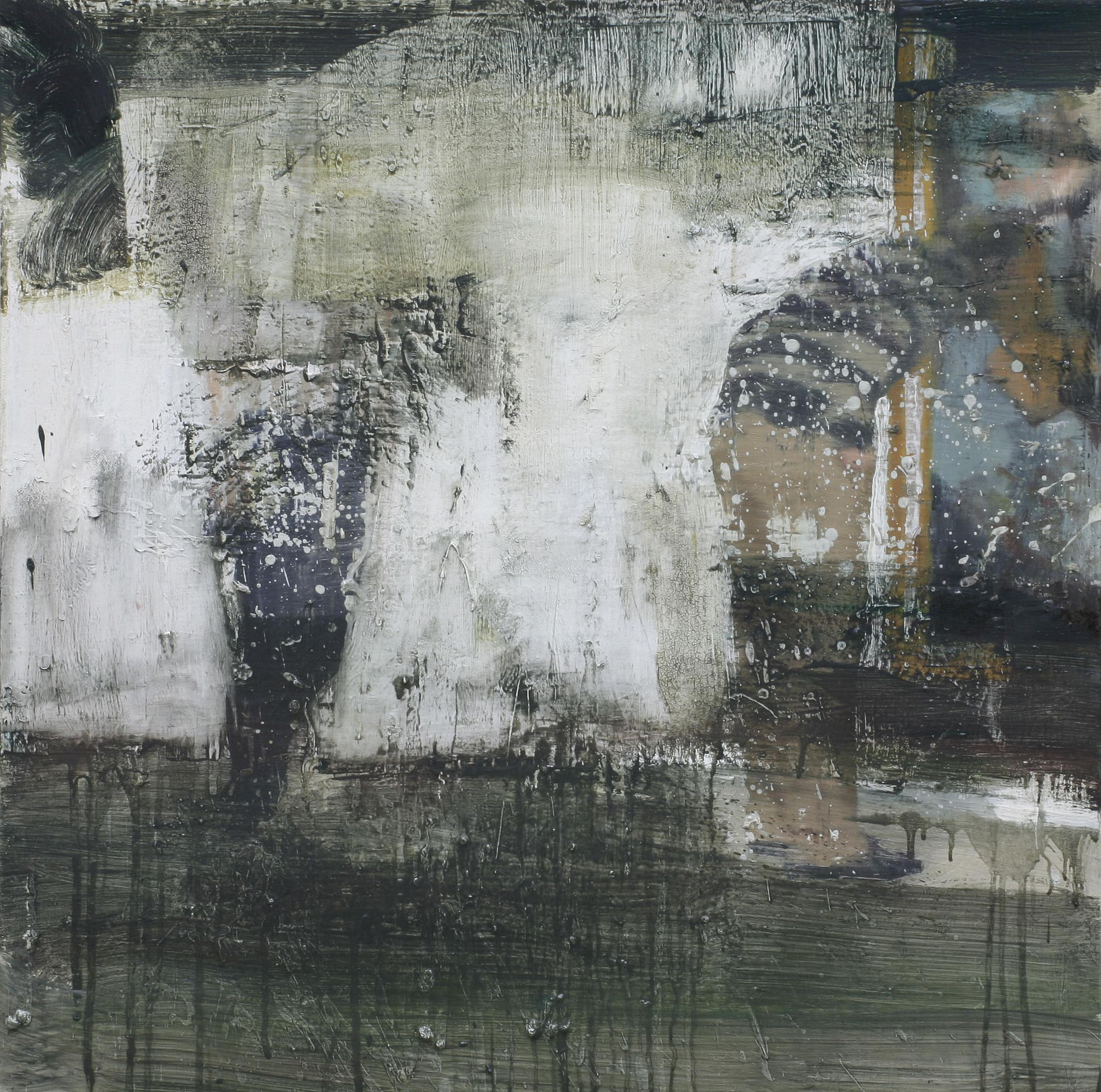 Lars kontemplerer Francis III | 100x100 cm | Eggoljetempera på lerret | Privat eie
