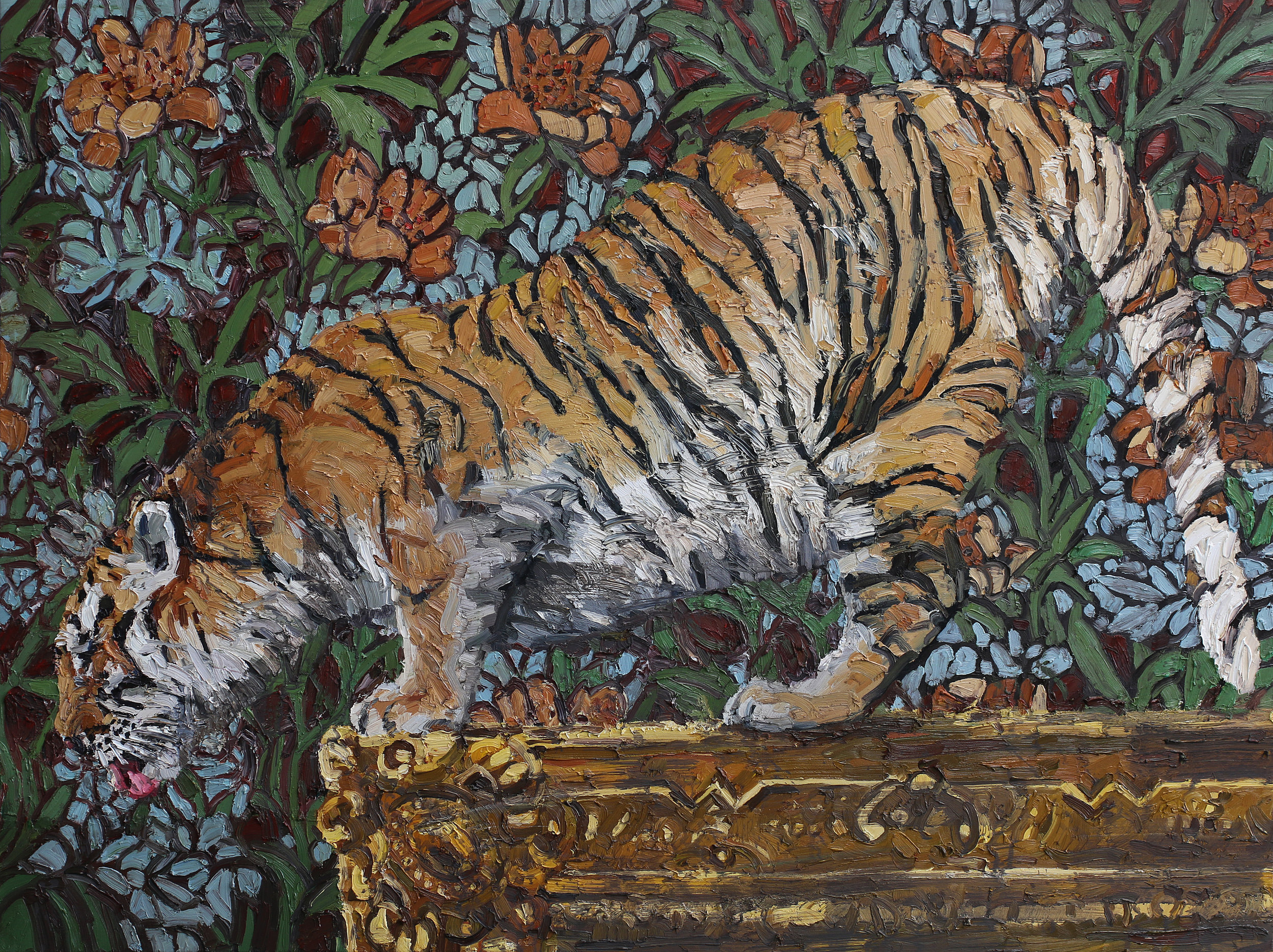 Panthera tigris   120x160 cm   Olje på lerret   Privat eie