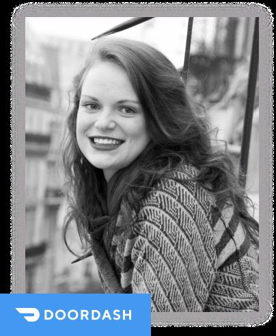 """""""我最近做了一个我一直想做的转变,在Doordash担任一个新角色,我们的消费者增长营销主管!我这次职业生涯的转变很大程度上要归功于我在Reforge中学到的东西。""""- Libby WeissmanGrowth Marketer ▸ Head of Consumer Growth"""