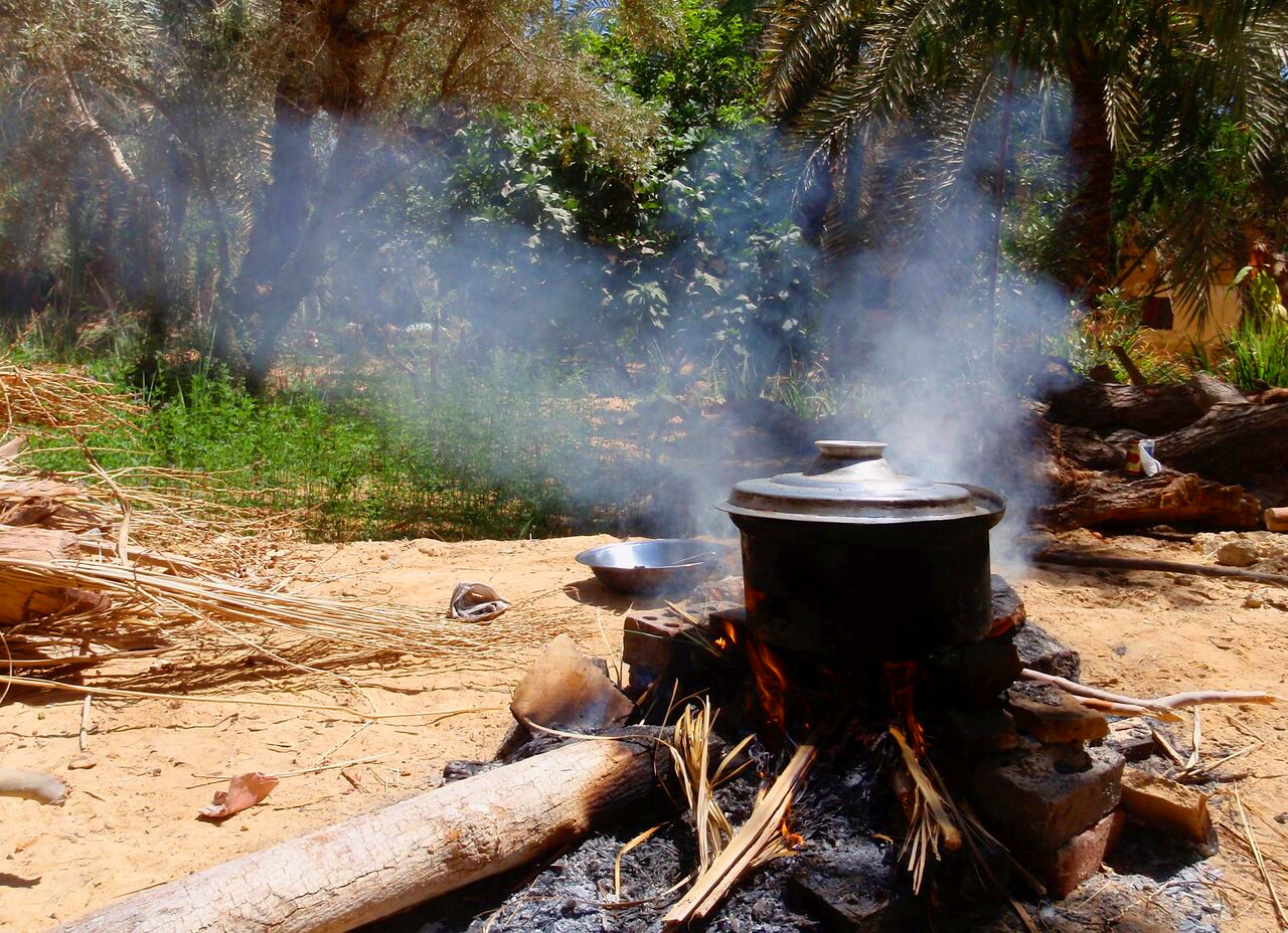 Cooking with olive wood