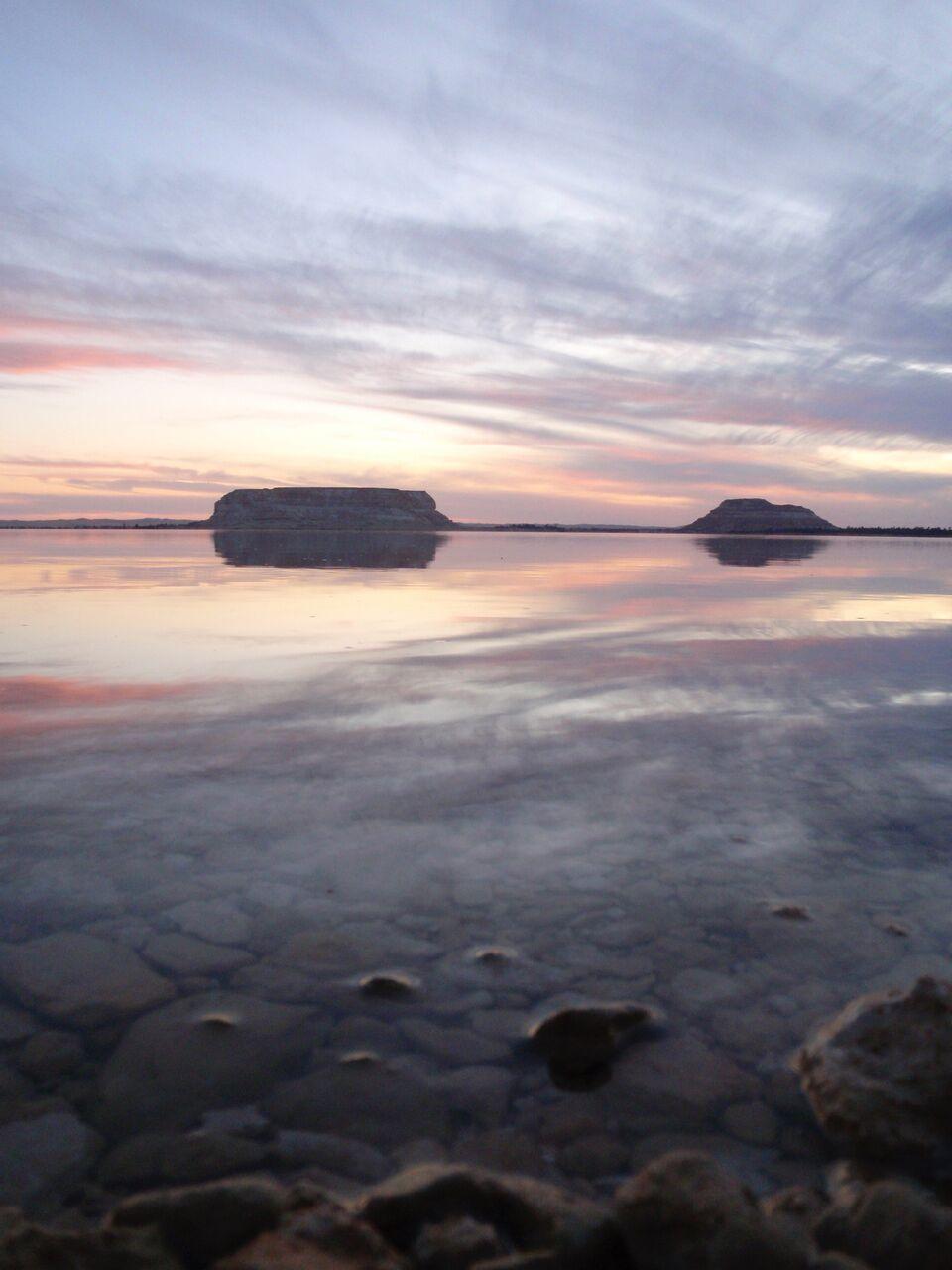 Sunset in Siwa Oasis