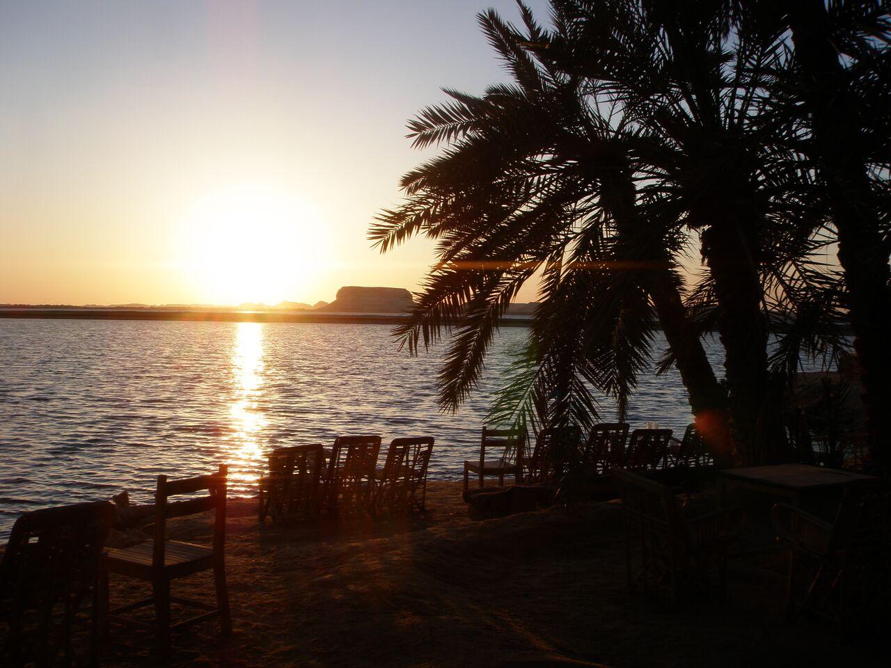 Siwa Oasis salt lake