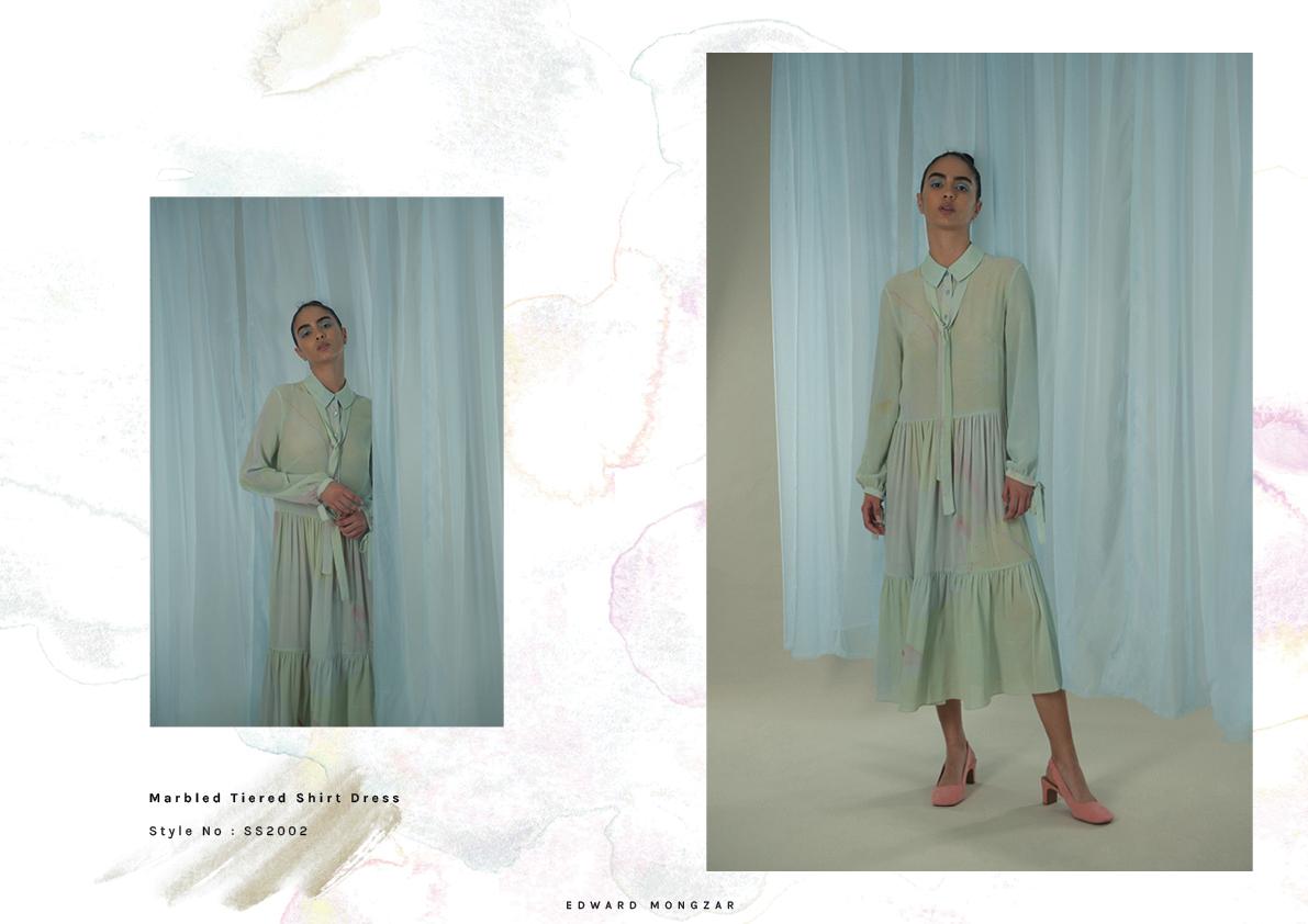 Hand Marbled dress Edward Mongzar green.jpg
