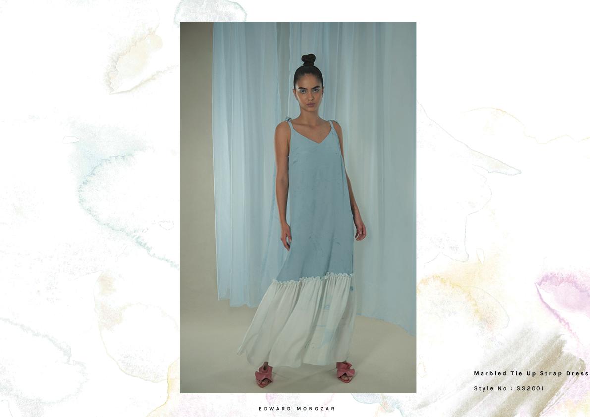 Hand Marbled dress Edward Mongzar blue.jpg