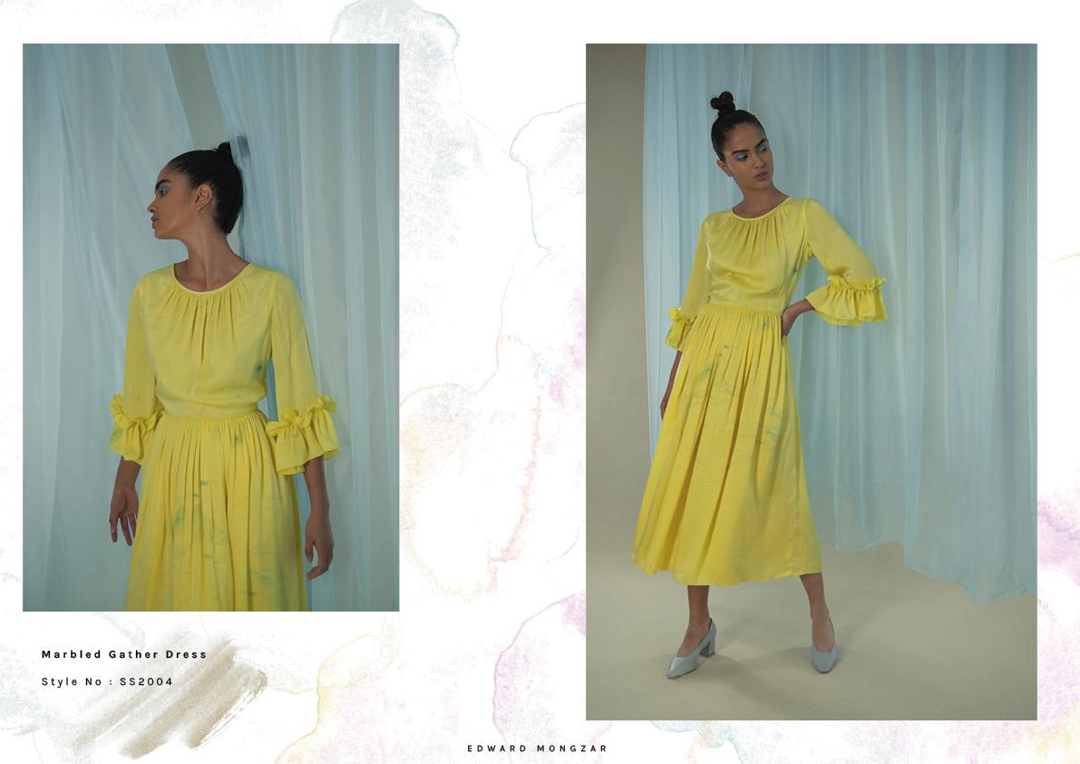 Hand Marbled yellow dress Edward Mongzar.jpg