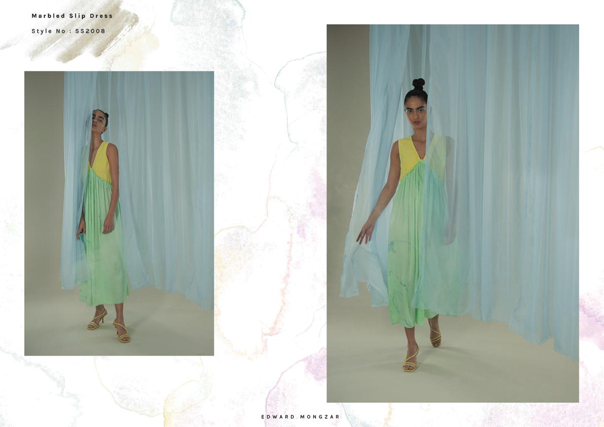 Hand Marbled green dress Edward Mongzar.jpg