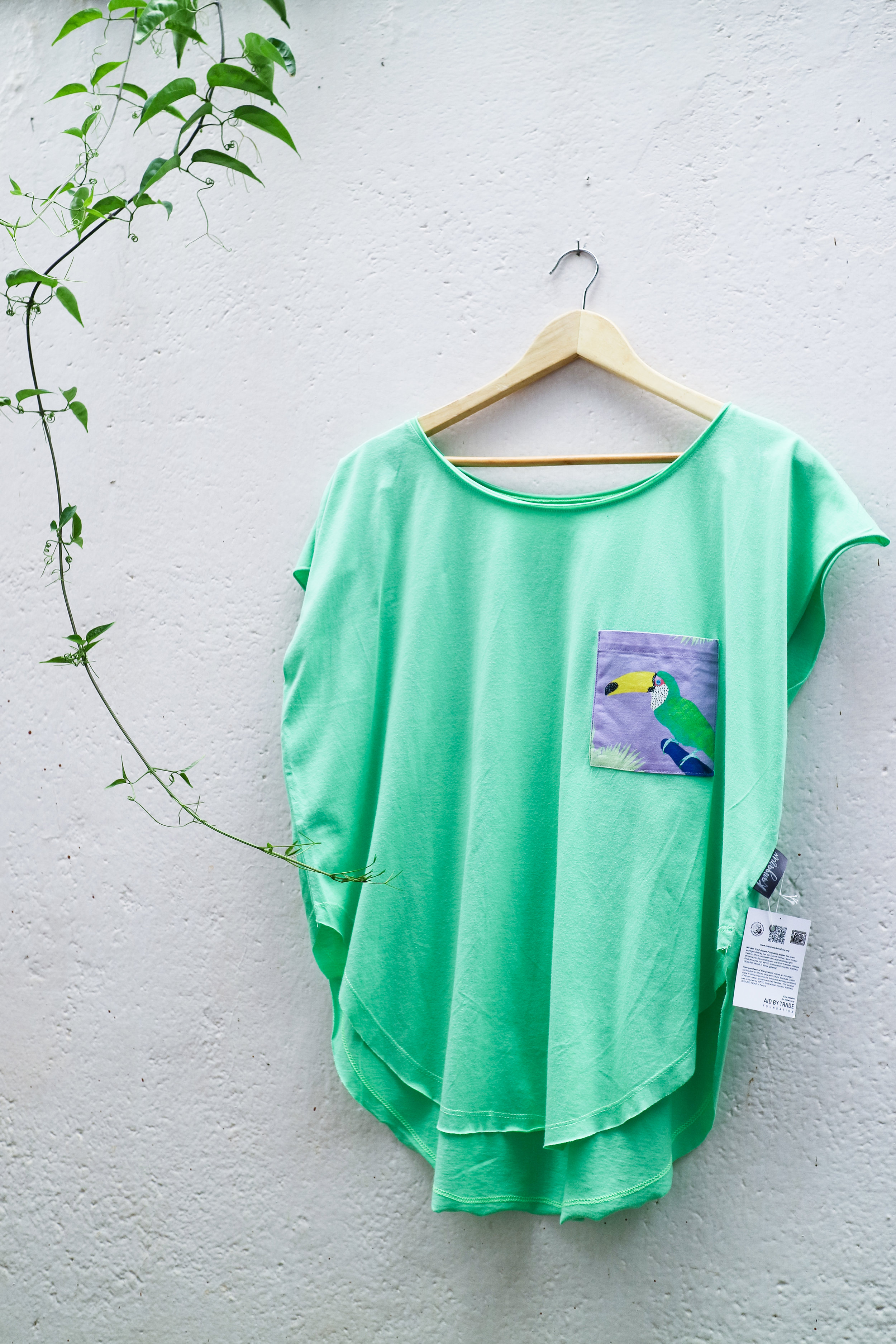 Mint T with Chilling toucan