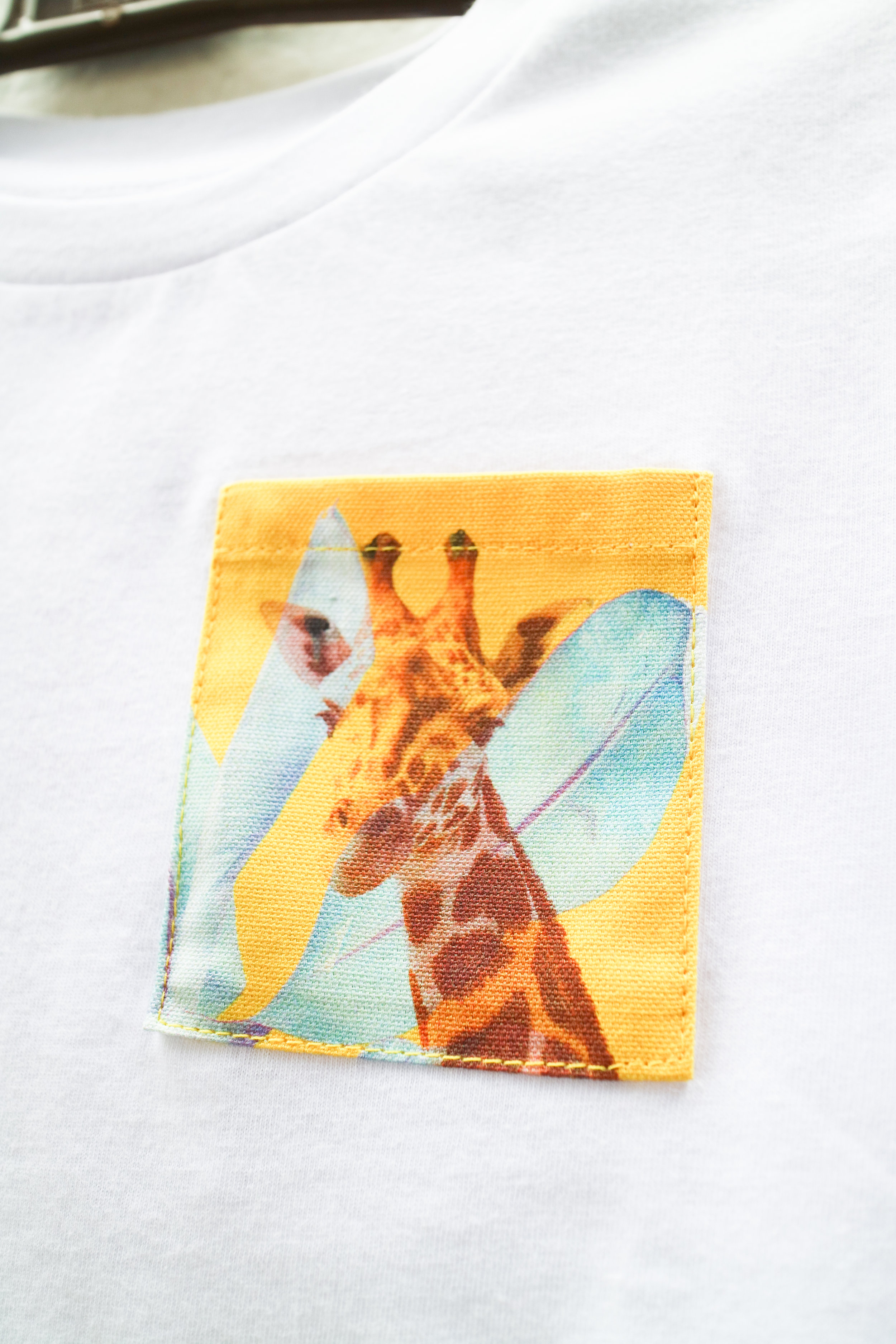 White T with Radiant Giraffe