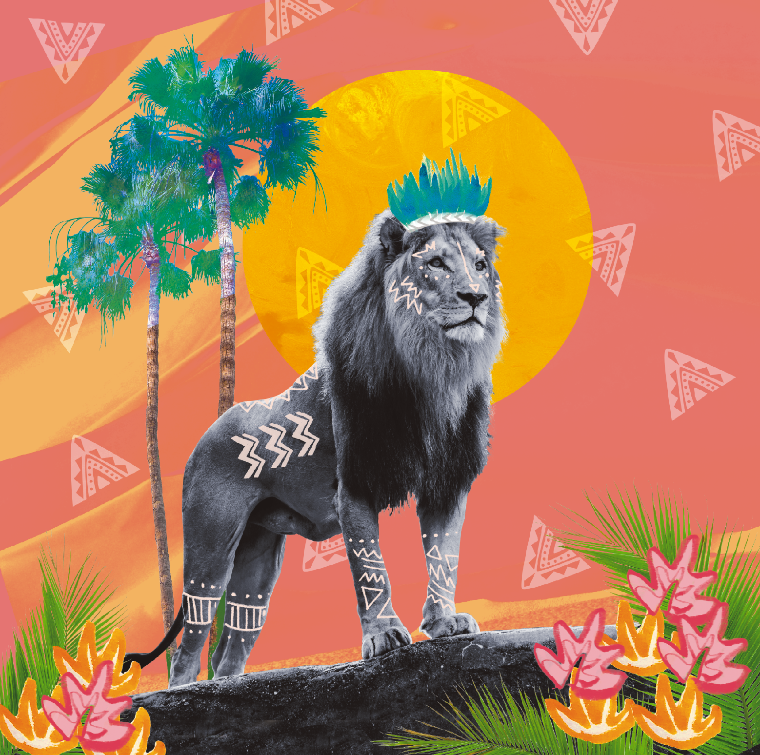 STAND TALL SIMBA    With their deliberate movements and majestic stature, lions seem to emanate confident energy. In reality, they're pretty lazy and leave most of the hunting to lionesses… but we can still admire and give the King of the Jungle the saintly aura it projects.