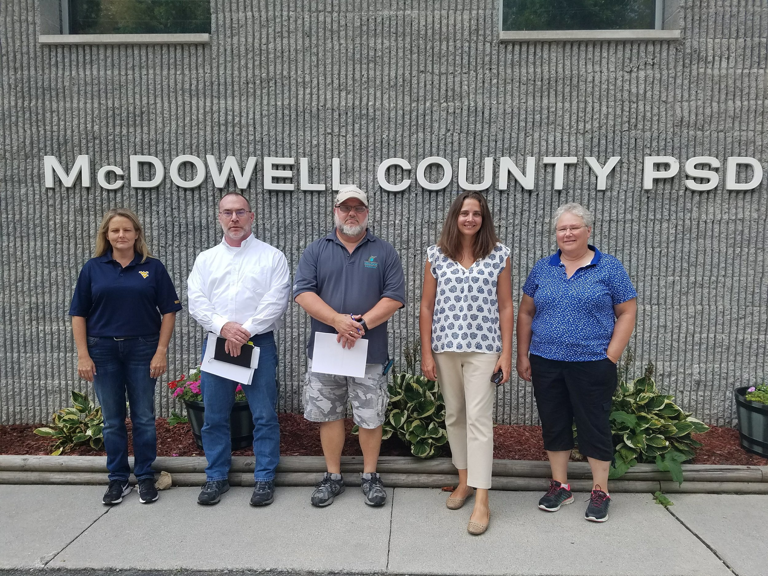 Caption: Members of the Alternative Wastewater Coalition visit public service district in southern WV.