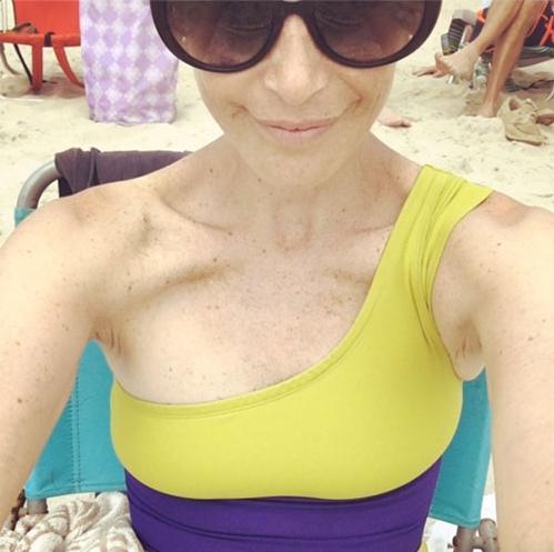 Didi,selfie-style,on Fire Island last summer.