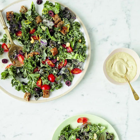 Niomi Smart's Kale Caesar. Yum.