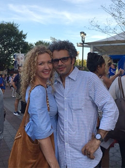 The perfect curls (and couple):Kristy and her cute husband.