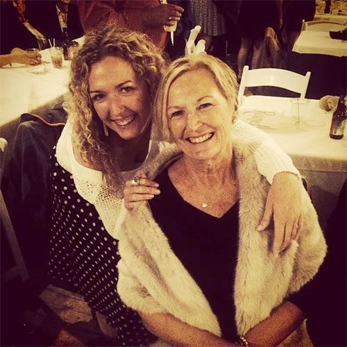 Good genes:Kristy and her gorgeous mother