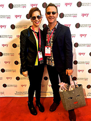 Amanda with her husband Christopher Still at an  IPSY  beauty community event.