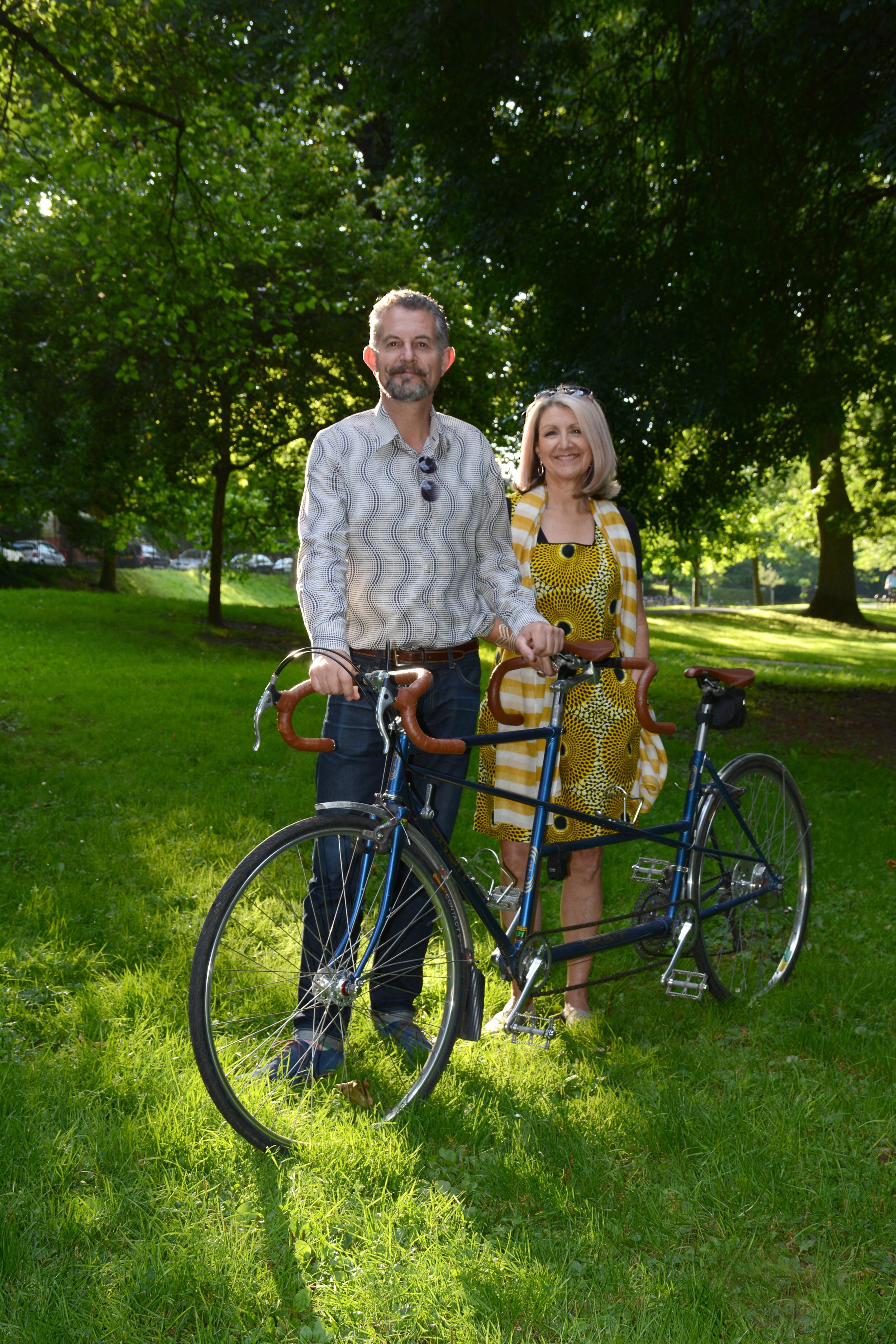 Our company tandem - two wheels are much better four