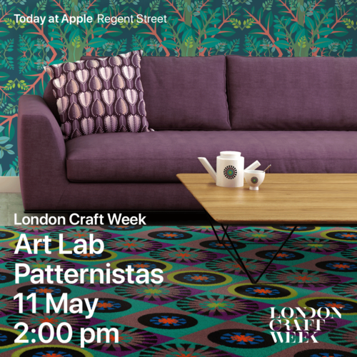 Today at Apple' - Patternistas workshop at the Apple Store in Regent