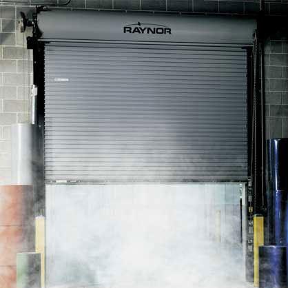 Raynor Firecoil cortina cortafuego contra fuego Mexico puertaautomatica.mx