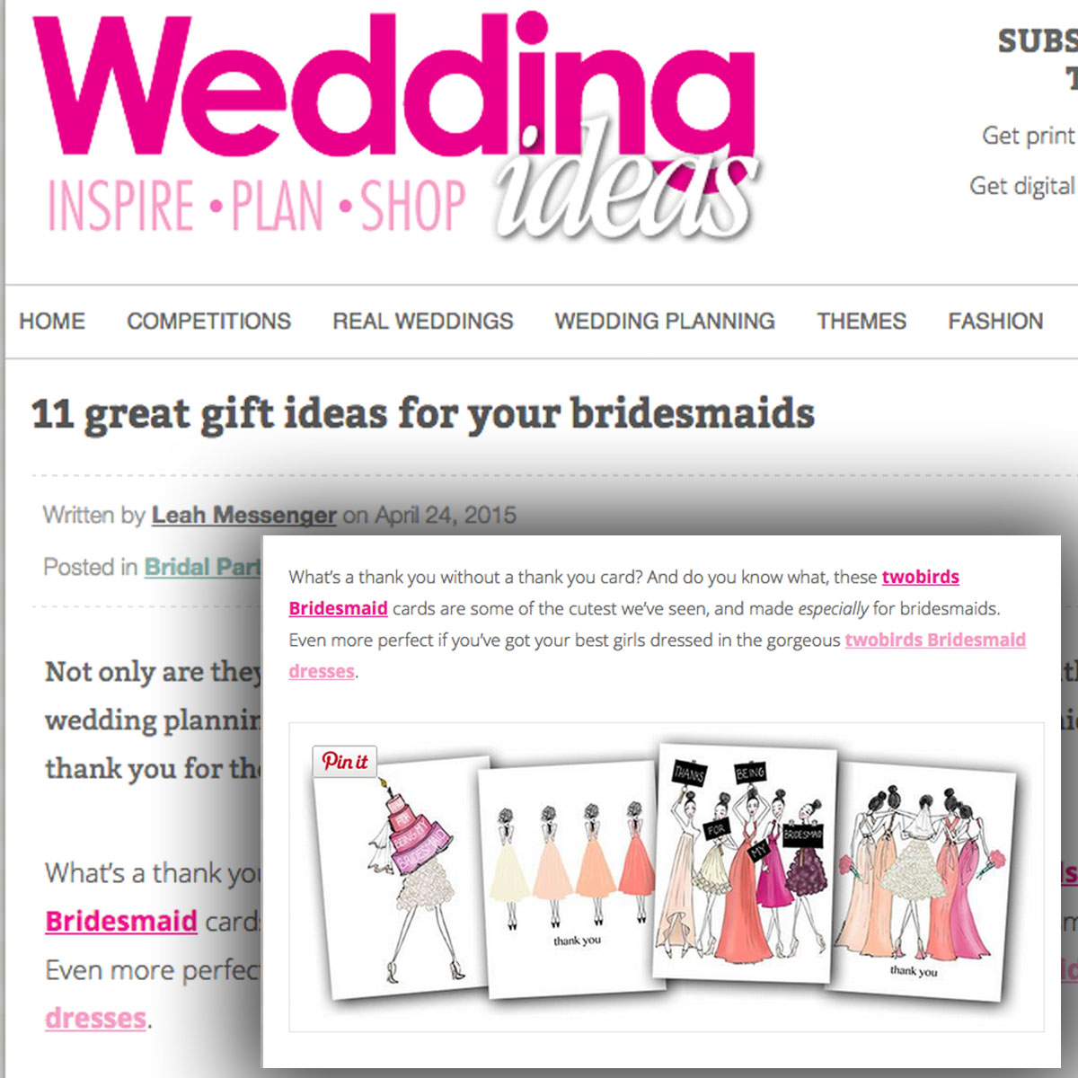 Wedding Ideas Magazine | April 2015