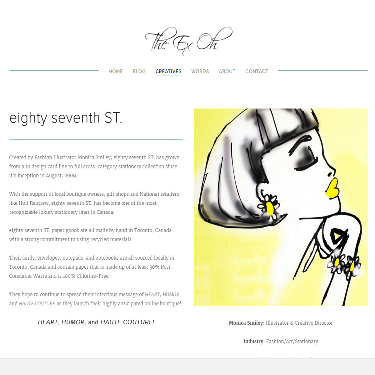 The Ex Oh Blog | 2016