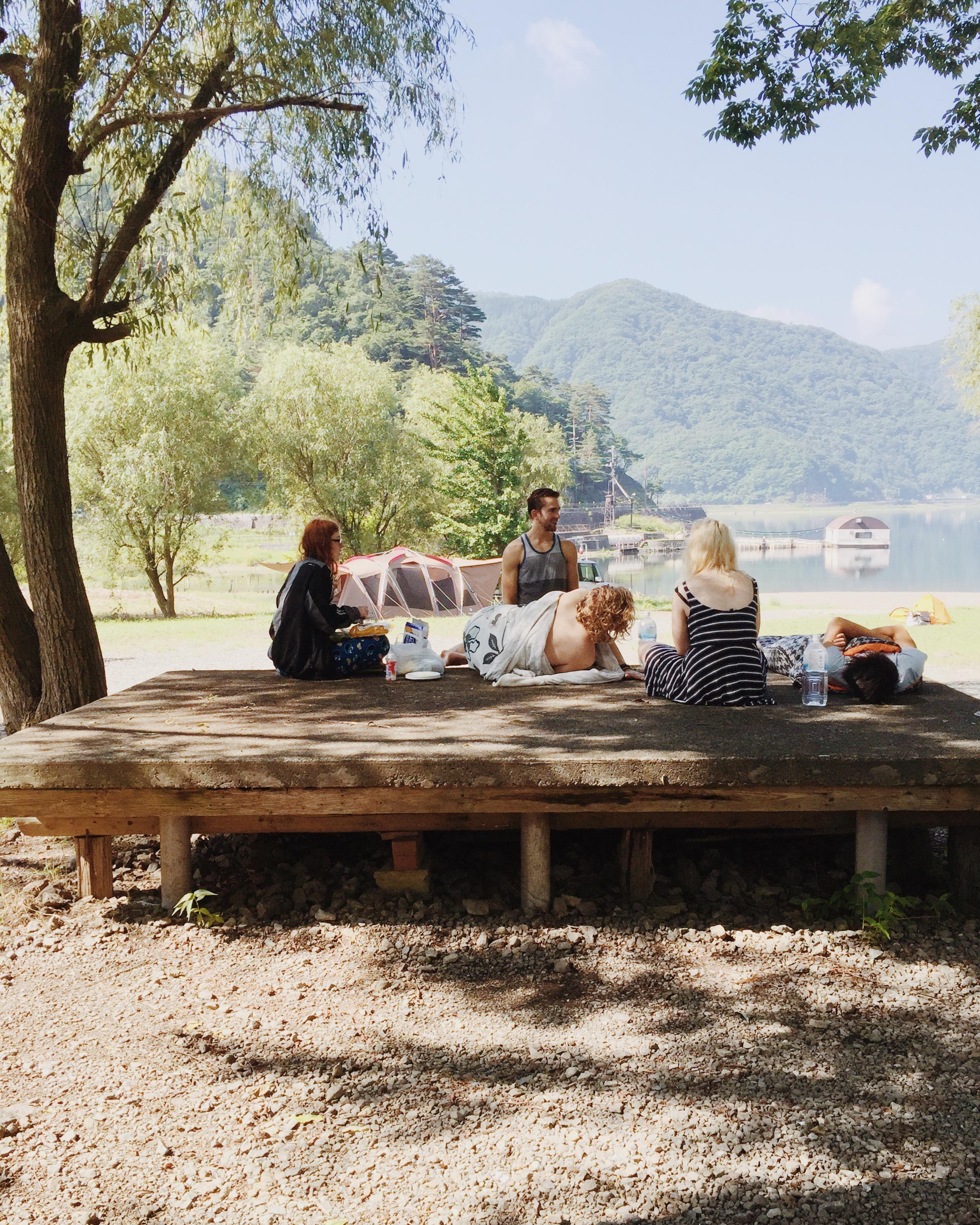 Anna, George, Johan, Rosie and Bill. Lake Saiko, Summer 2015.