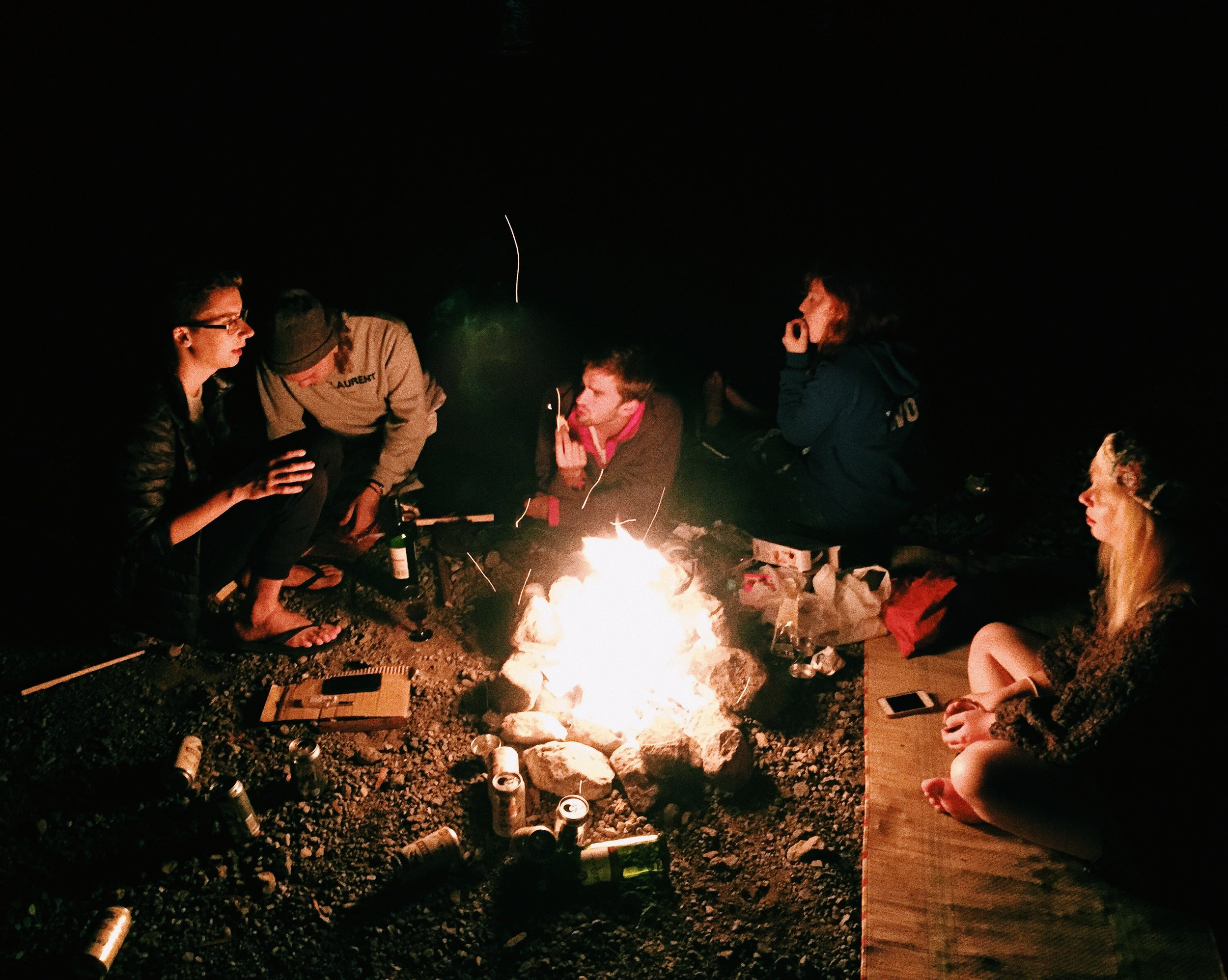 Sam, Johan, George, Anna and Rosie. Lake Saiko, Summer 2015.