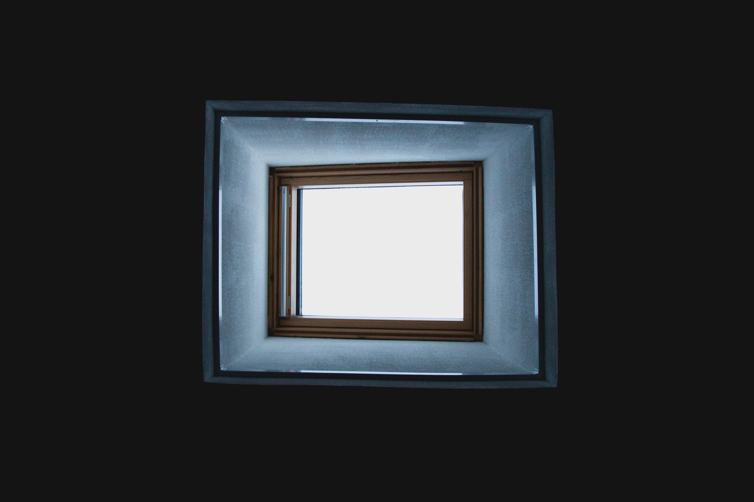 A man's view from inside the Nothing Box.