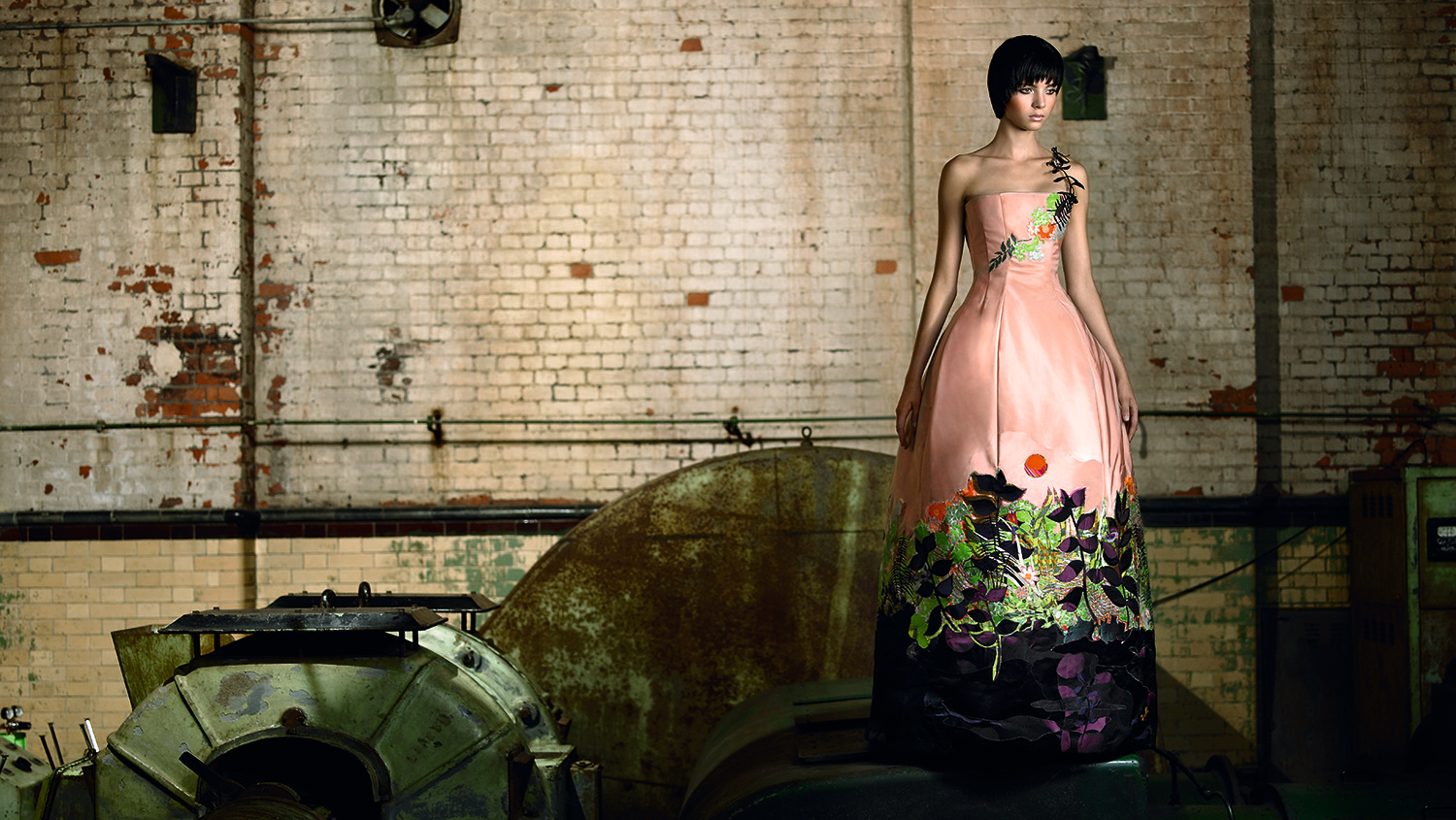 Rousseau dress, Ecoture with Aveda and Deborah Milner