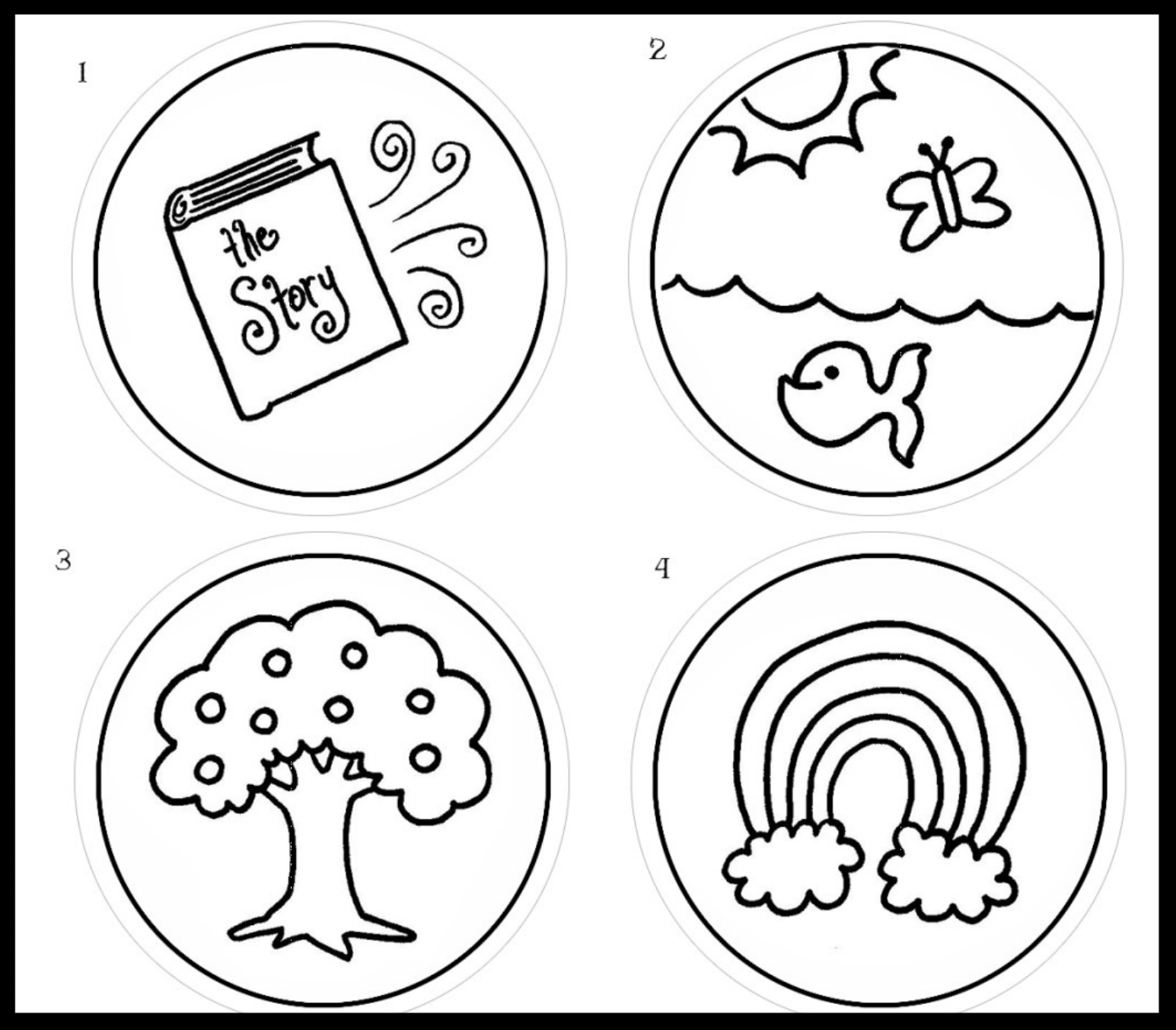 Advent Ornaments Printout - Ornaments for each of the 24 stories leading up to Christmas day for children to color.Download