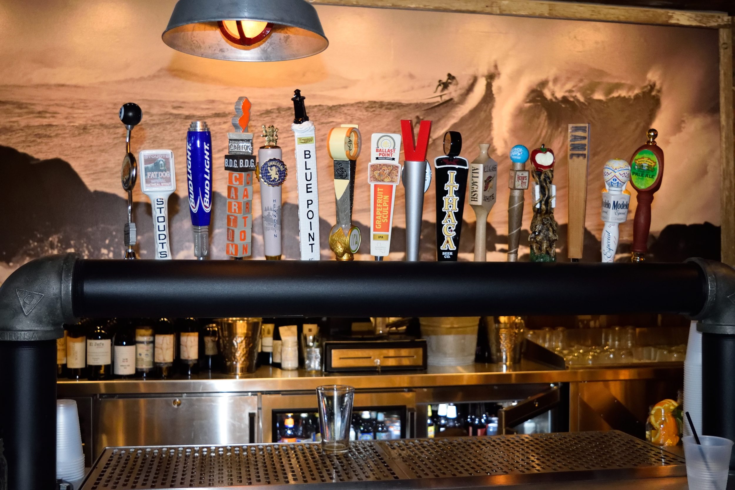 16 beers on draft. Some better than others, but I can dig it.