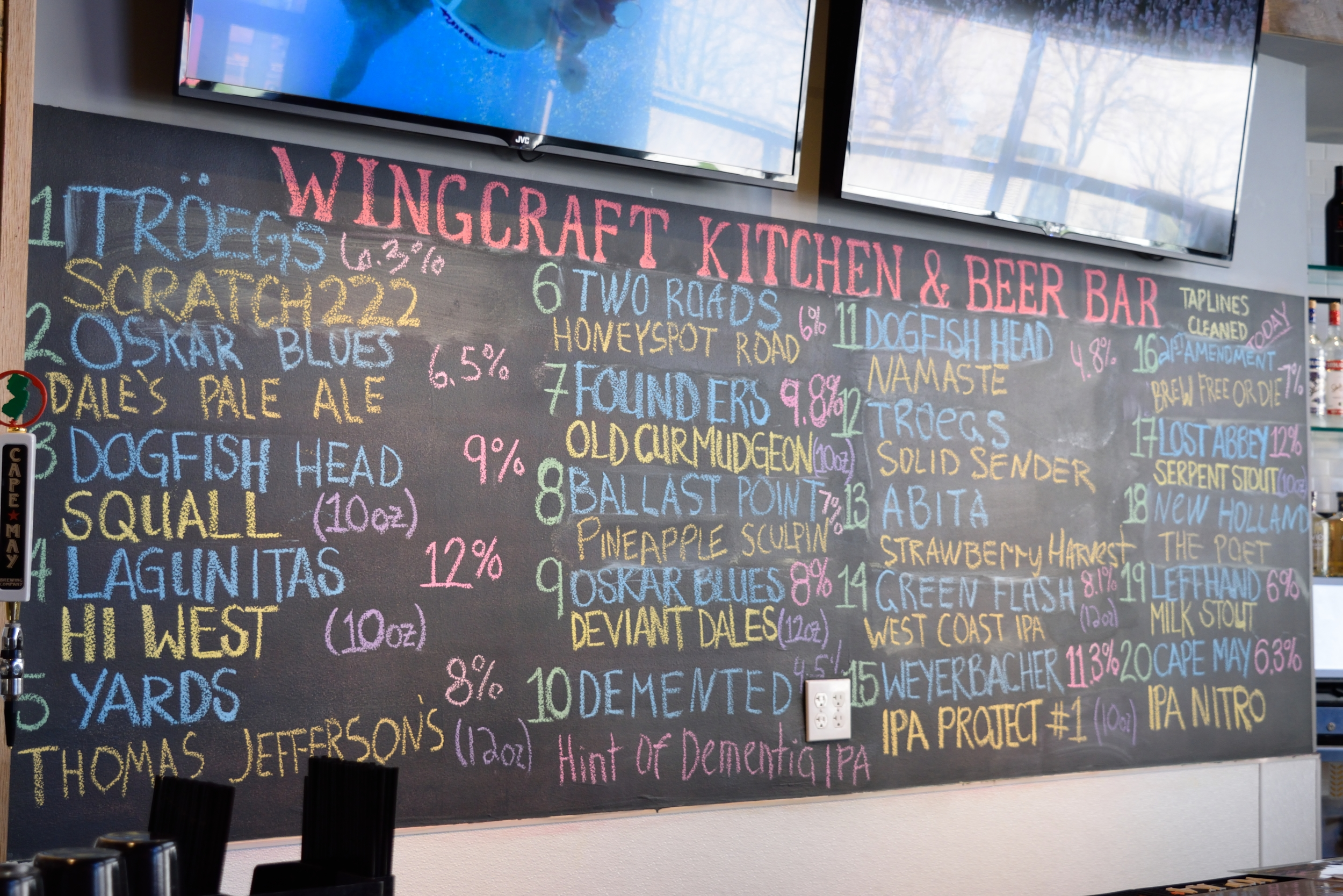 It's the big board of beers again, you couldn't possibly go wrong with these offerings.