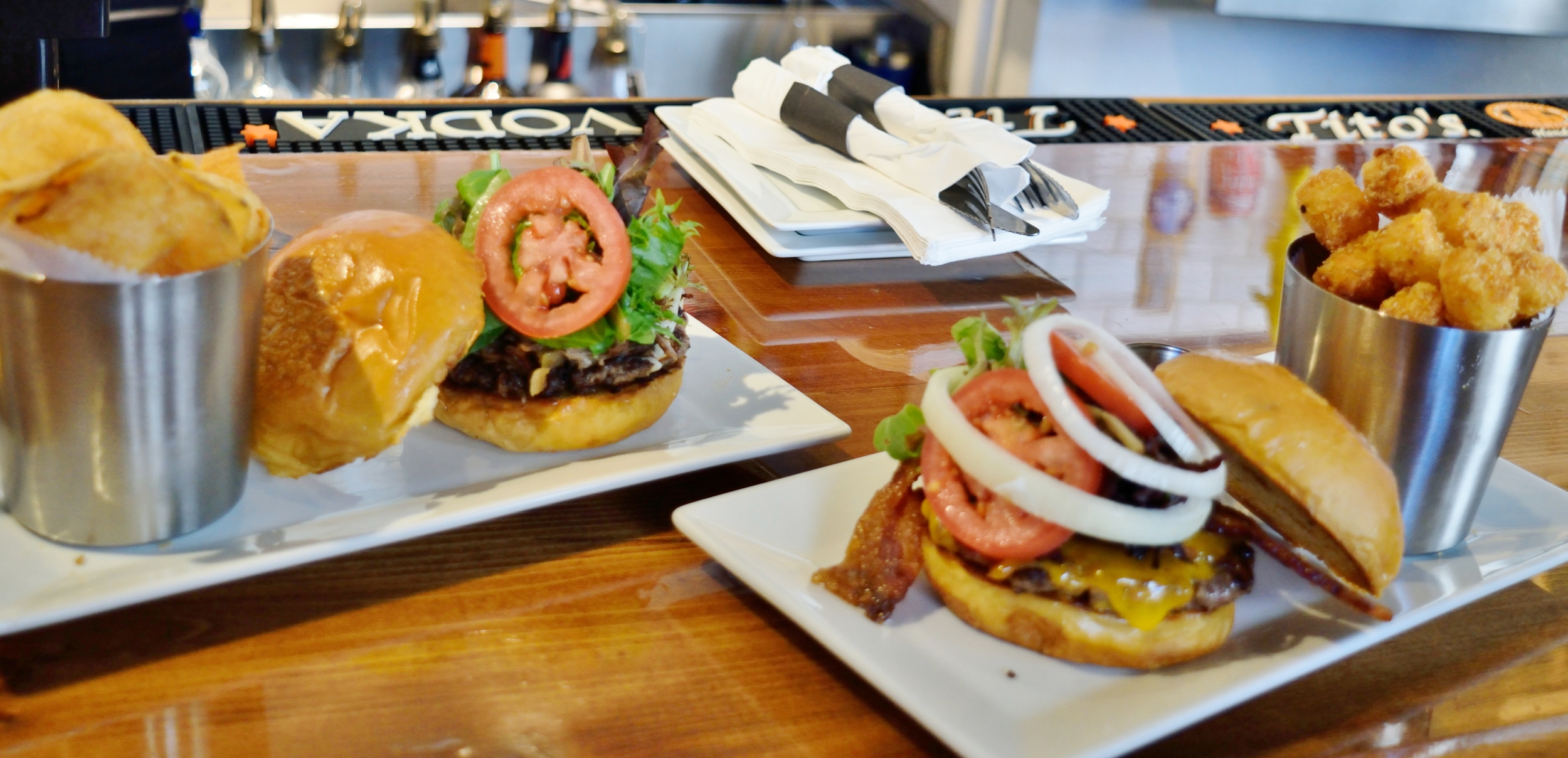 Come here for the beer, stay for the burgers.