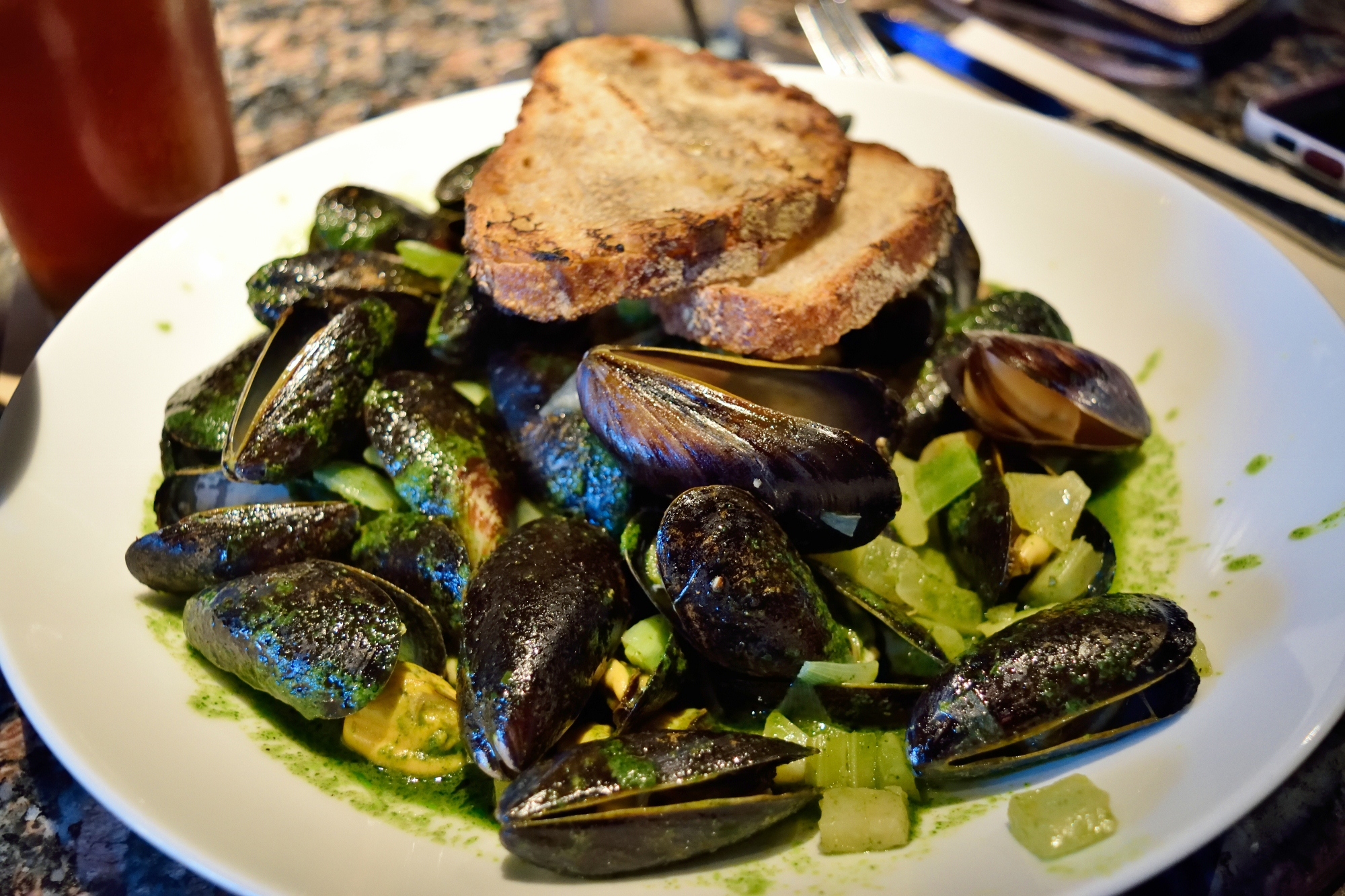 Mussels - great price for a great plate of food.