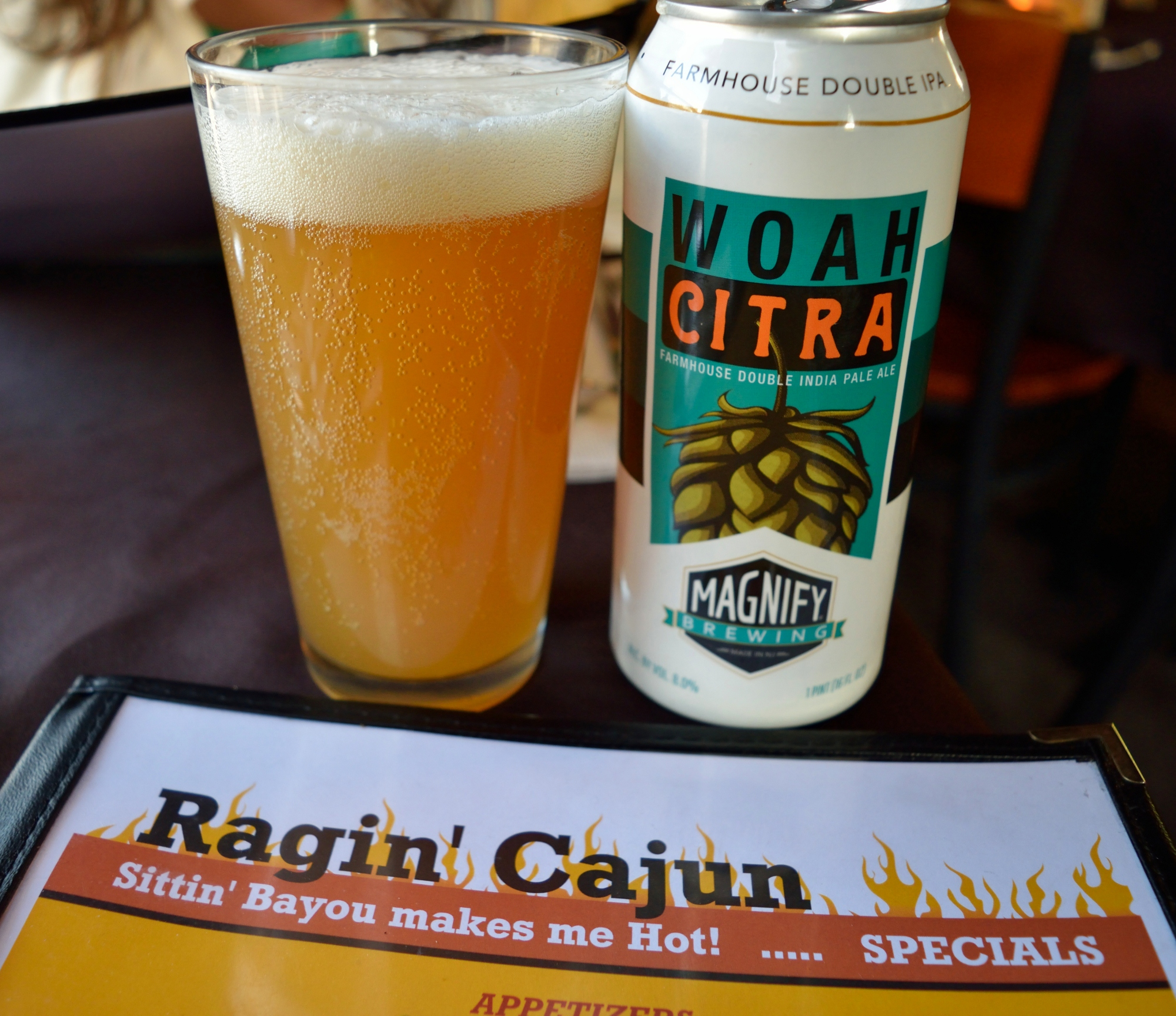BYOB! I brought mine - Woah Citra Double IPA from Magnify Brewing.