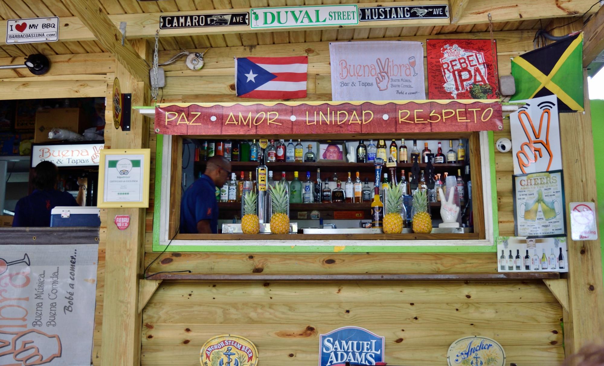 Bar. Check. Drinks. Check. Taps. Check. Pineapples. CHECK.