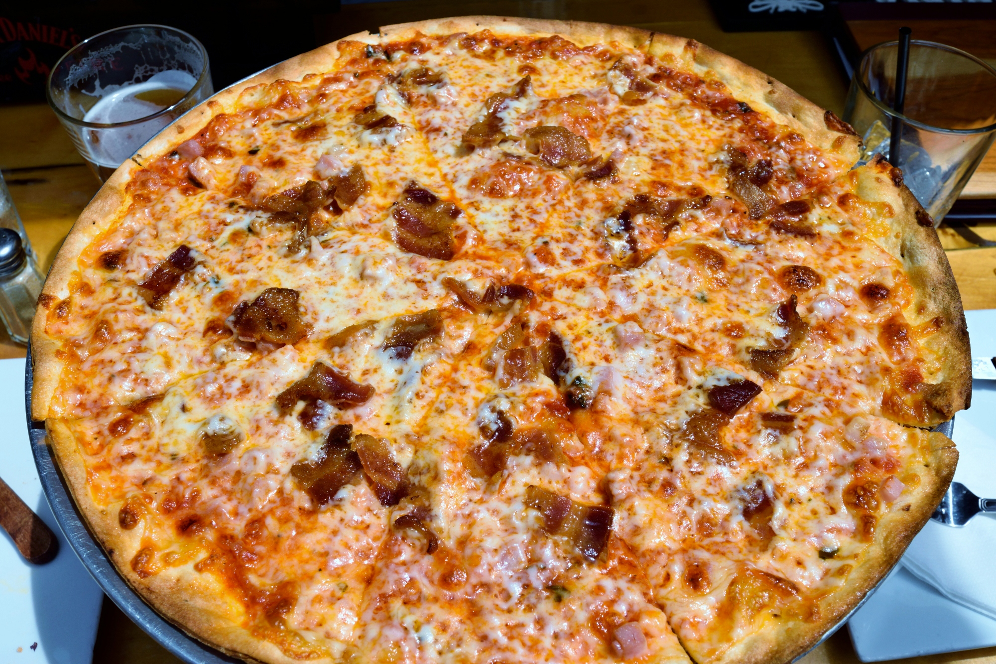 Applewood Bacon and Ham pizza. It's got bacon, do you need another reason?