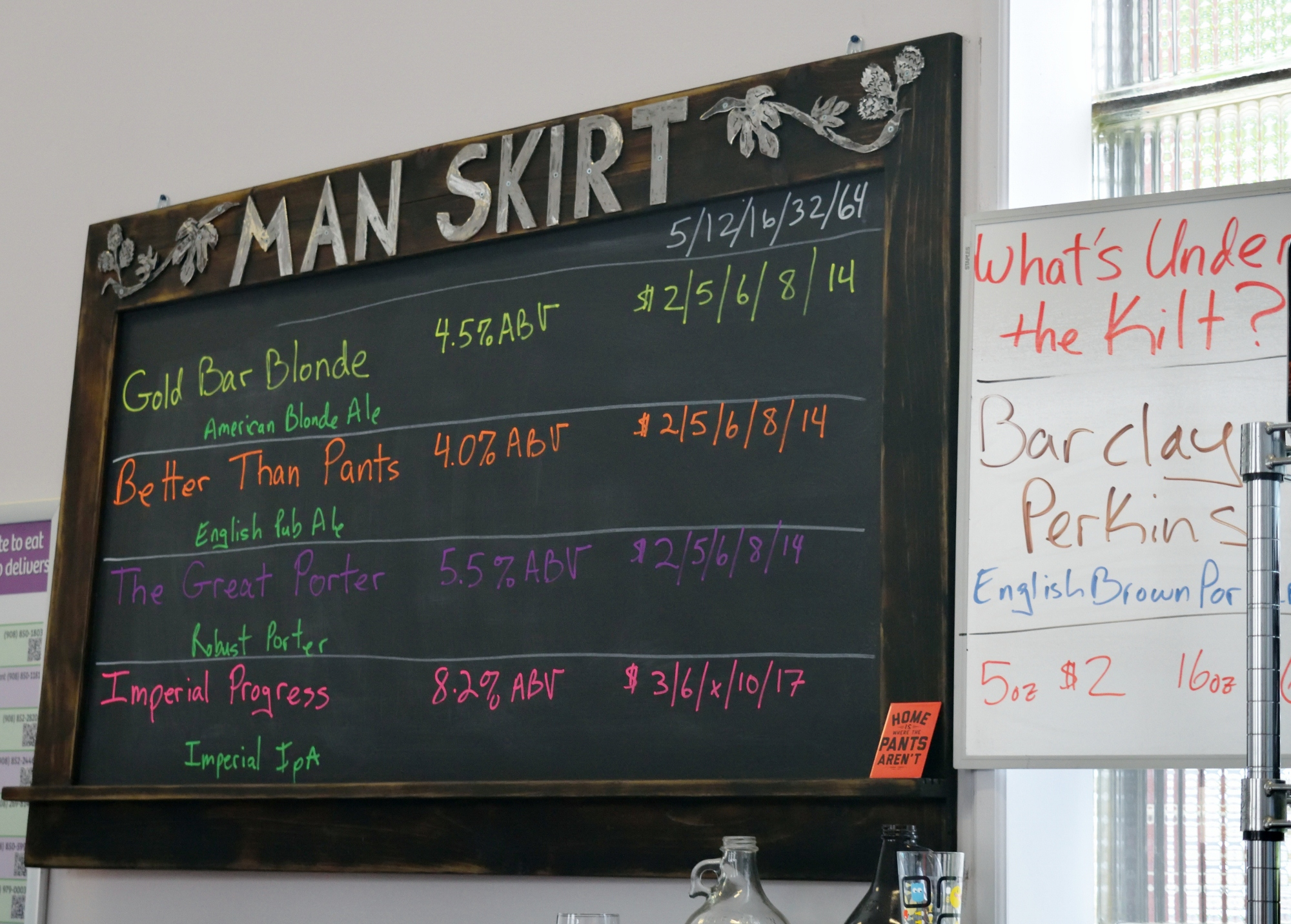 Five beers on tap this time around - two of these definitely shined above the rest.