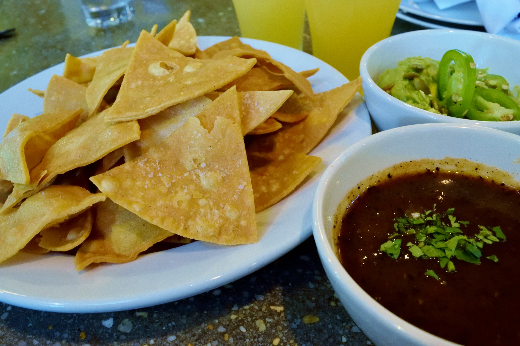 Chips and stuff - More like the only time I've had guacamole I liked.