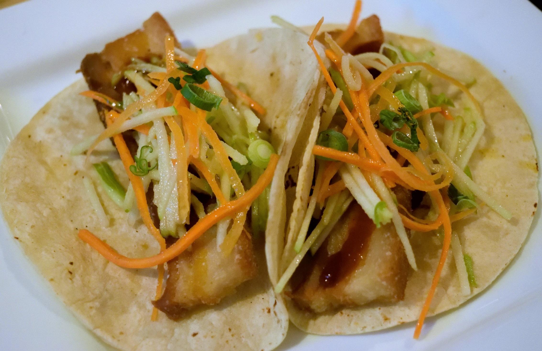 Pork belly tacos - delicious.