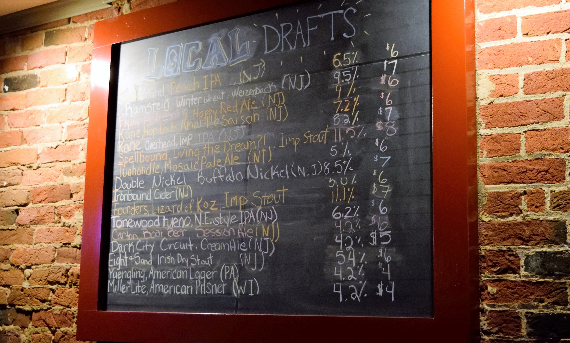 ...oh yeah, tap list looks really good.