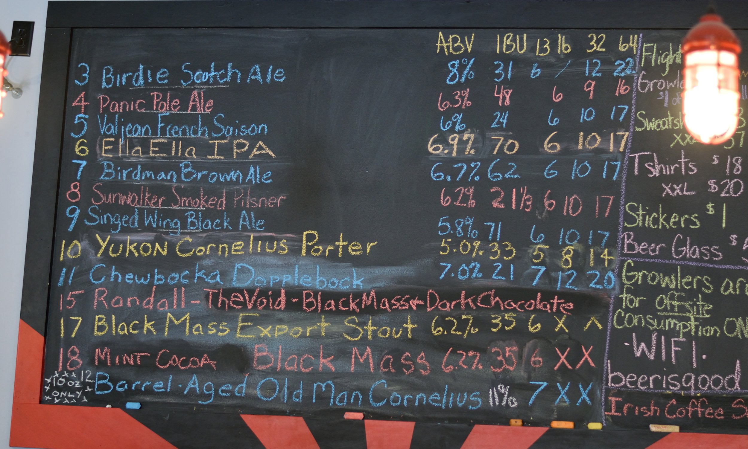 Ever growing tap list at Icarus Brewing, so many adult decisions to make!
