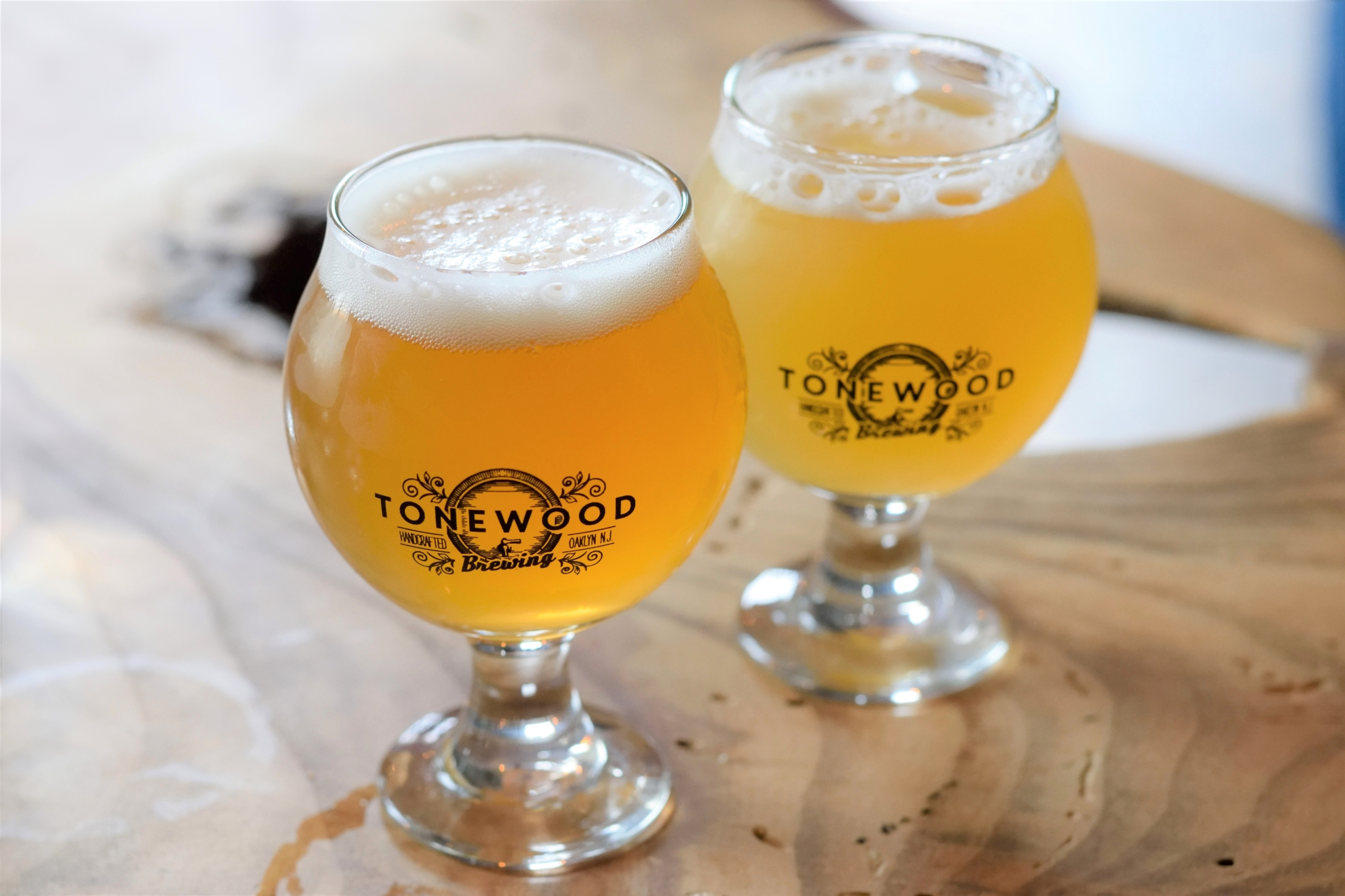 Session IPA (left) and Fuego (right)