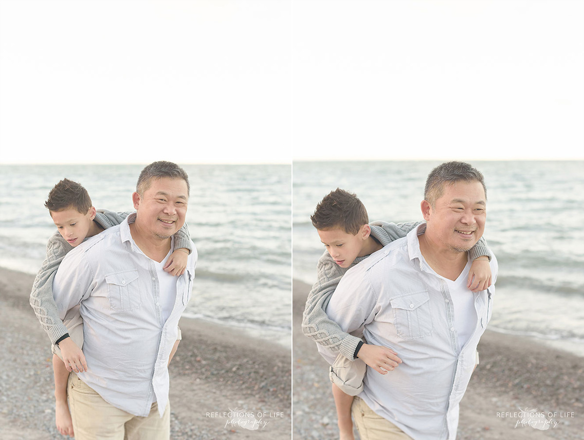 playful dad and son photography southern ontario canada