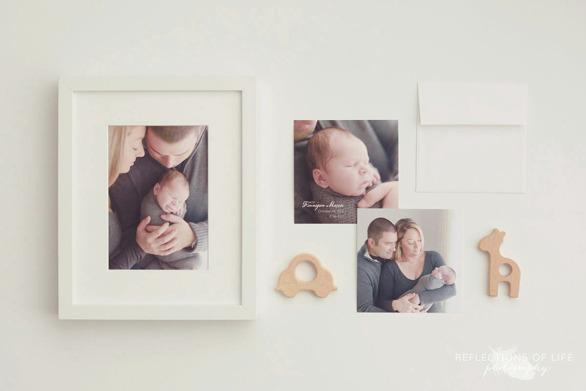 Framed prints, birth announcements and teethers, Photography Products Niagara Ontario, Canada