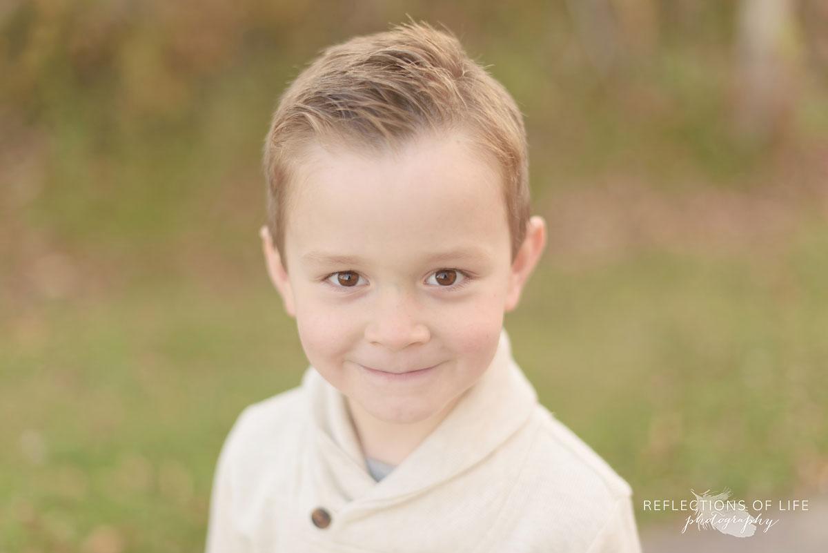 curious little boy professional portraits niagara ontario