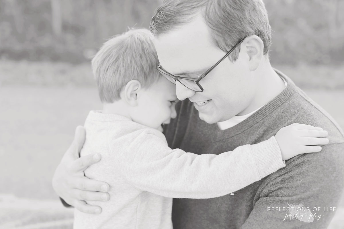 casual and loving dad and son portraits ontario