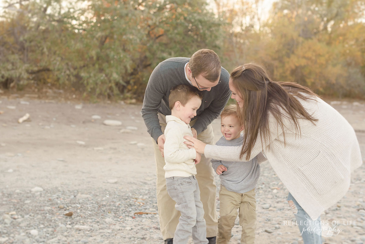 meaningful family photographs at sunset southern ontario