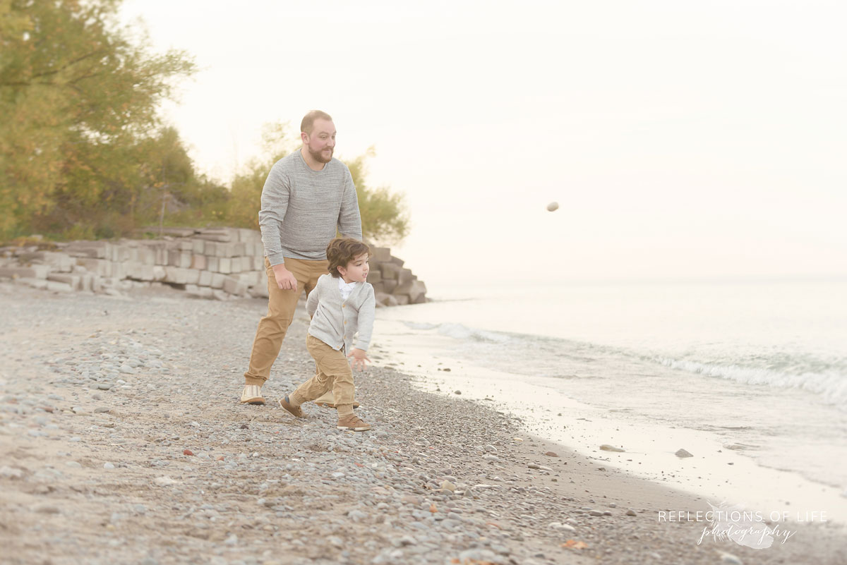 Daddy and daughter on the beach photography Burlington